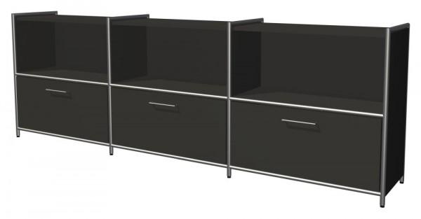 Sideboard TOLEDO, 3 Schübe + 3 Fächer