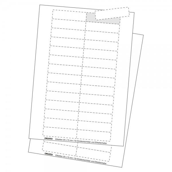 Kartoneinlagen für Etikettentaschen Label TOP & PLUS, klein