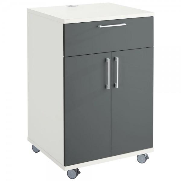 Mobiler Catering-Schrank, mit Kühlschrankfach