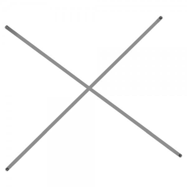 Diagonalkreuz für Edelstahlregal Köhler