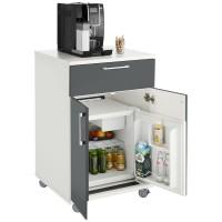 Mobiler Catering-Schrank, mit Kühlschrank
